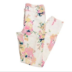 4/25$ | H&M - White Floral Skinny Jeans